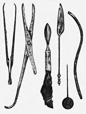 Набор древнегреческих хирургических